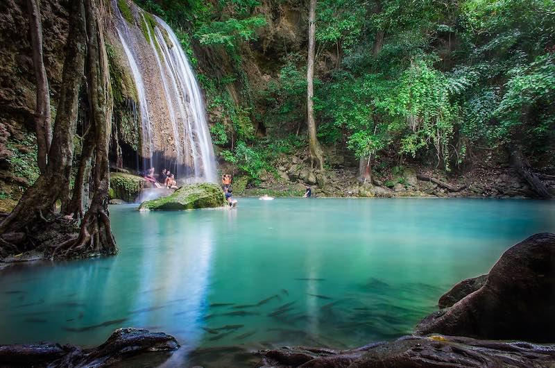 Las famosas Cascadas de Erawan