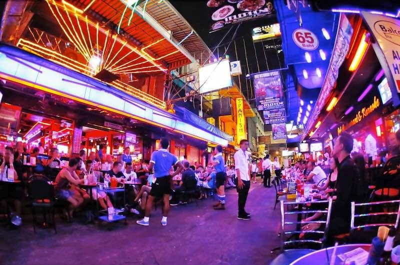 la zona de Silom